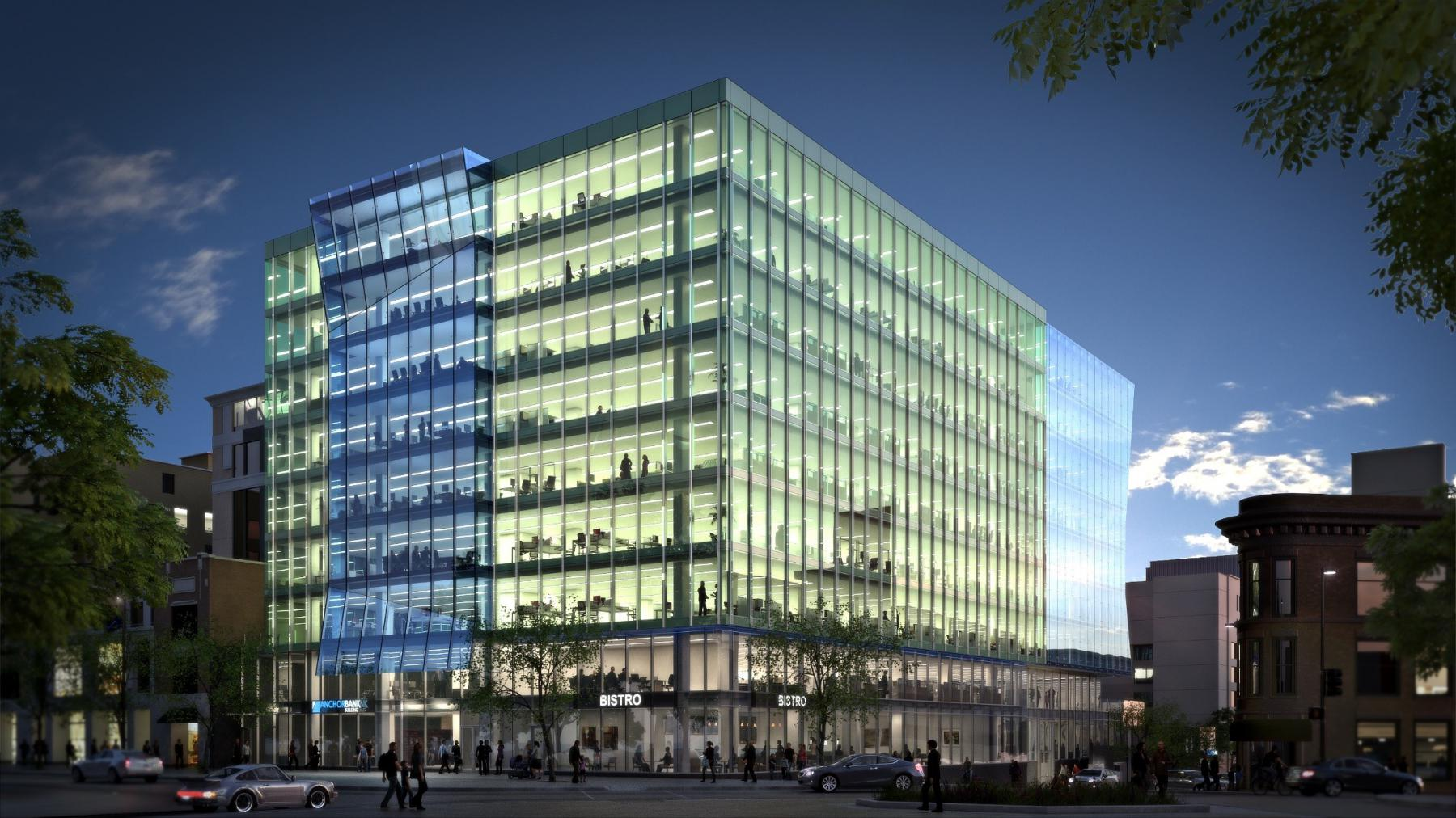 ULI 25 West Main Rendering Anchor Bank Building
