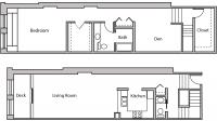 ULI Lincoln School 202 - One Bedroom Plus Den, One and  Half Bathroom