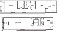 ULI Lincoln School 203 - One Bedroom Plus Den, One and  Half Bathroom