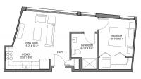 ULI Nine Line 410 - One Bedroom, One Bathroom
