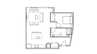 ULI Seven27 218 - One Bedroom, One Bathroom