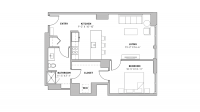 ULI The Pressman 711 - One Bedroom, One Bathroom