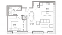 ULI Tobacco Lofts E208 - One Bedroom, One Bathroom