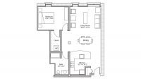 ULI Tobacco Lofts W209 - One Bedroom, One Bathroom