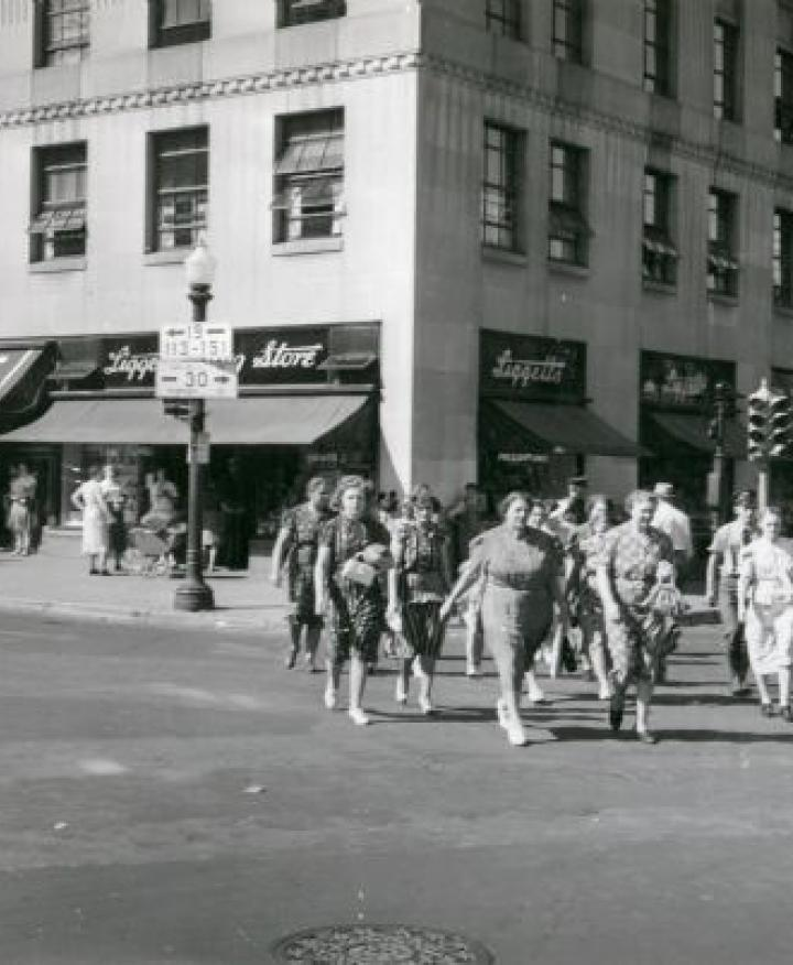 ULI Tenney Plaza - Historic Photo with People Walking
